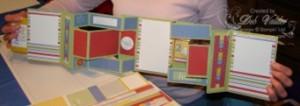 accordian book open
