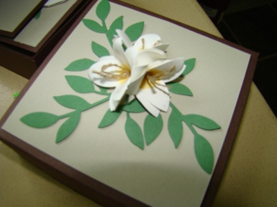 Boxes and Flower and Paper … Oh my…
