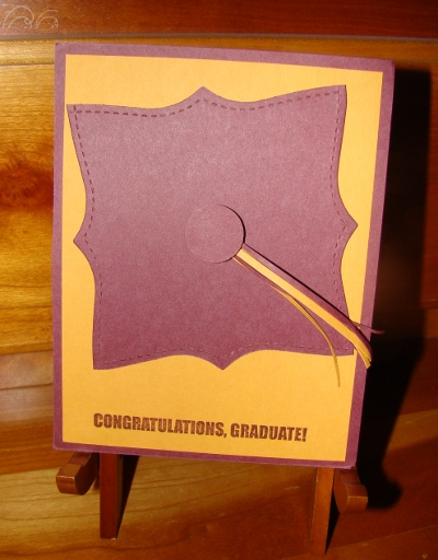 Easel Graduation Card