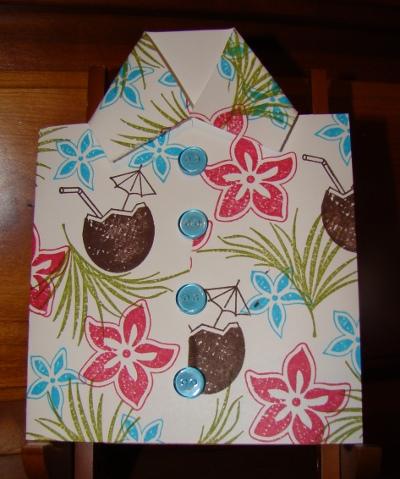 Tropical Shirt Card