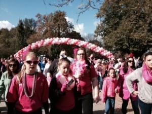 Making Strides Breast Cancer walk 2