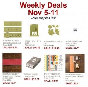 weekly deals 20131105