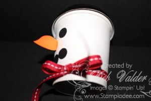 Stampin Up Winter Snowman warm winter wishes 2