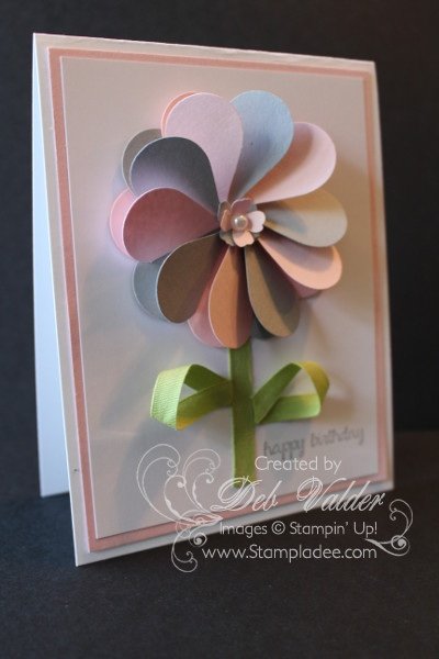 Heart Pinwheel Punch Art Card With Deb Valder Deb Valder
