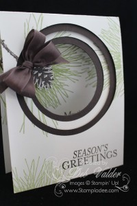 Ornamental-Pine-bright-&-Beautiful-bulls-eye-technique-good-greetings-christmas-holiday-double-fork-bow-seasons-greetings-deb-valder-stampladee-stampin-up-1