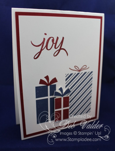 Your Presents Your Presents Deb Valder Stampin Up Stampladee Holiday