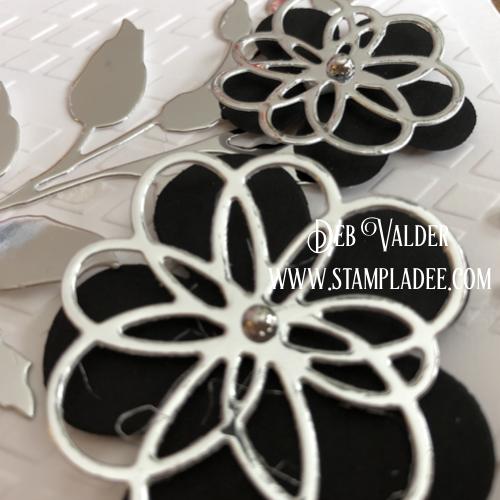 Black and White Elegance using Blooming Details Die with Deb Valder