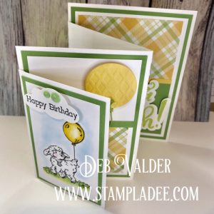 Four Fold Panel Card with Deb Valder using Storybook Stamp Set for a Birthday Card