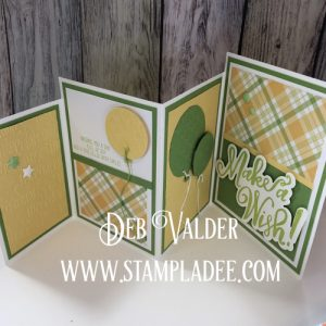 Fun Stampers Journey Four Fold Panel Card with Deb Valder using Storybook Occasions Stamp Set