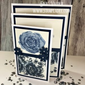 Fun Stampers Journey Four Fold Panel Card with Deb Valder using Summer Rose Stamp Set
