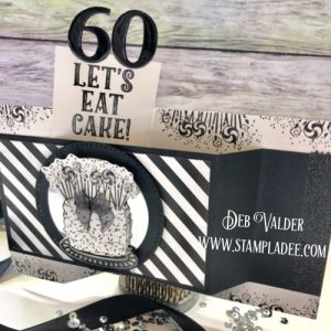 Hidden Pop Up card or Wiper Card with Fun Stampers Journey and Deb Valder