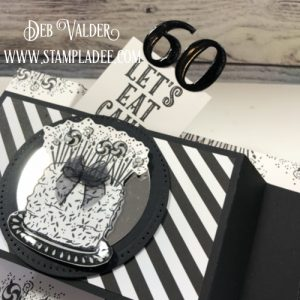 Hidden Pop Up Card using Fun Stampers Journey Let's Eat Cake with Deb Valder