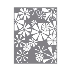 Pinwheel Rosettes Stencil from Fun Stampers Journey and Deb Valder