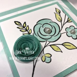 Fun Stampers Journey and Deb Valder using Rosette Spiral Lines Die to make flowers