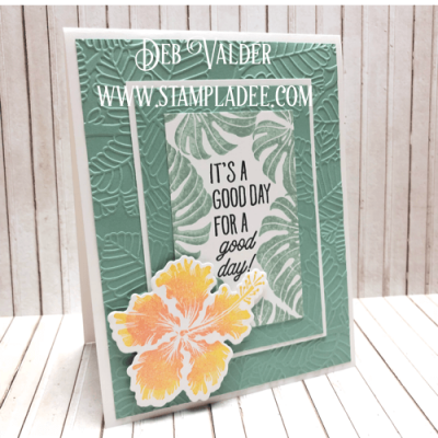 Triple Layer Embossing with Deb Valder and Fun Stampers Journey