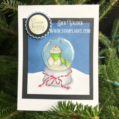 Little Snowman Globe with Deb Valder
