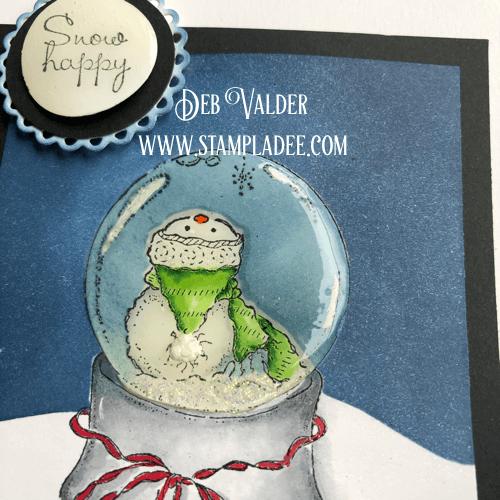Little Snowman Globe with Deb Valder