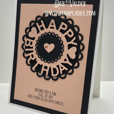 10 minute card Happy Birthday with Deb Valder
