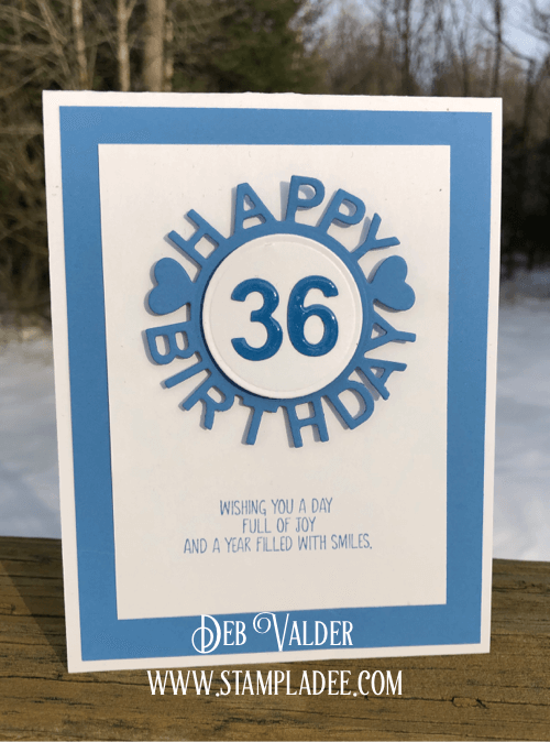 Happy Birthday with Numbers and Deb Valder