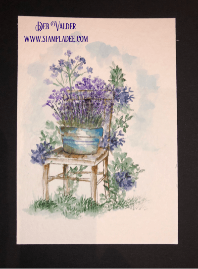 Watercoloring with Wooden Chair