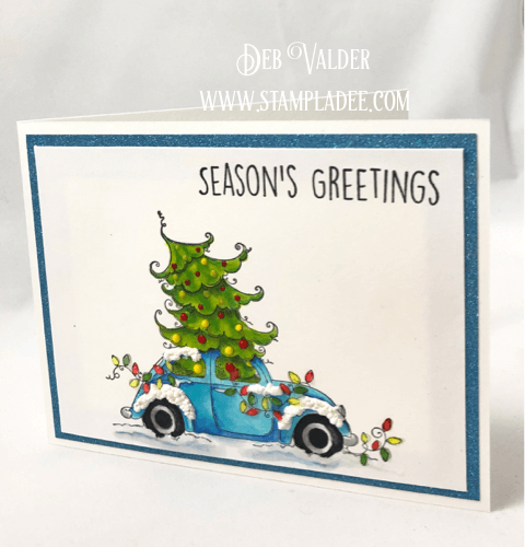 Volkswagen Christmas Bug is an adorable Christmas stamp. All products can be found in our Teaspoon of Fun Shoppe.