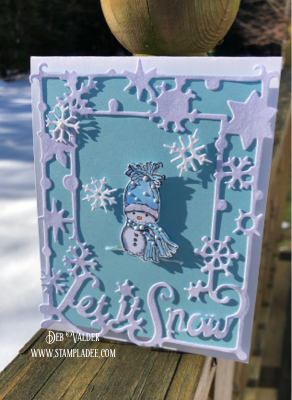 Let It Snow Window Frame Die with Deb Valder
