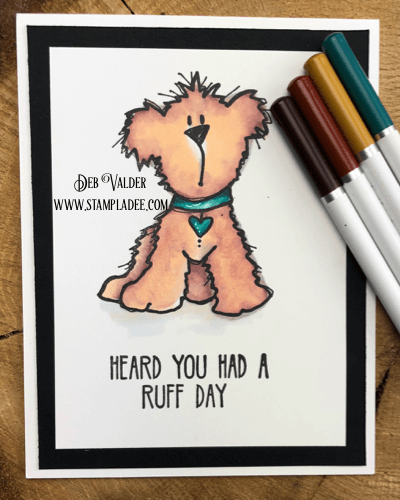 cute dog having a ruff day can be used for Valentine's Day