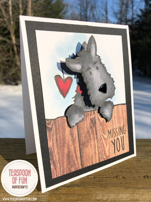cute scottie dog with a wobble head can be used for Valentine's Day