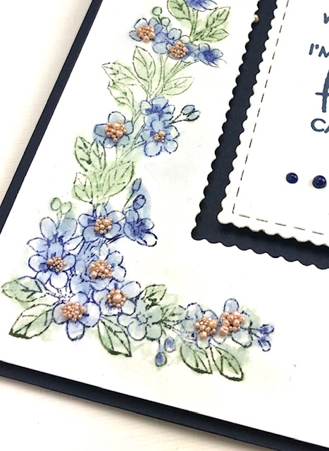Using Blossom Border stamp set to learn to color.