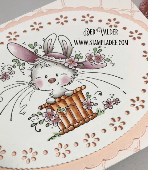 Bonnie Bunny and Spring Ovals Die is great for Easter or Mother's Day