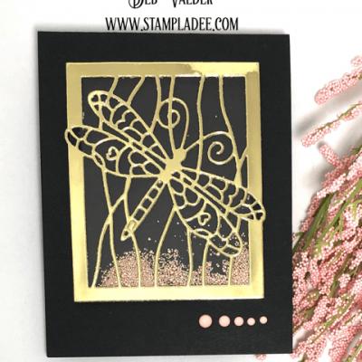 Dragonfly Sand Dunes Shaker Card with Deb Valder
