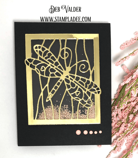 Dragonfly Sand Dunes Shaker Card