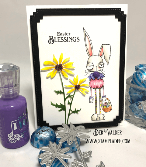 Oddball Easter Bunny is paired with Daisy Silhouette