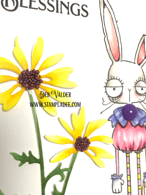 Puff Puff Bunny is an Oddball Easter Bunny is paired with Daisy Silhouette