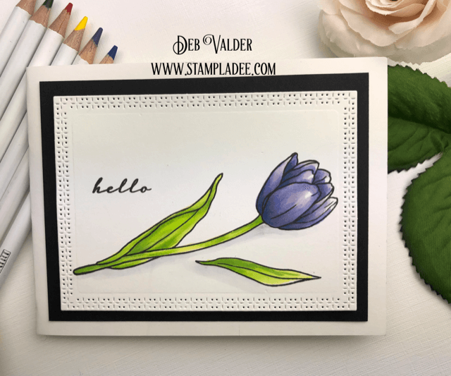 Tip Toe Through the Tulips with this floral card