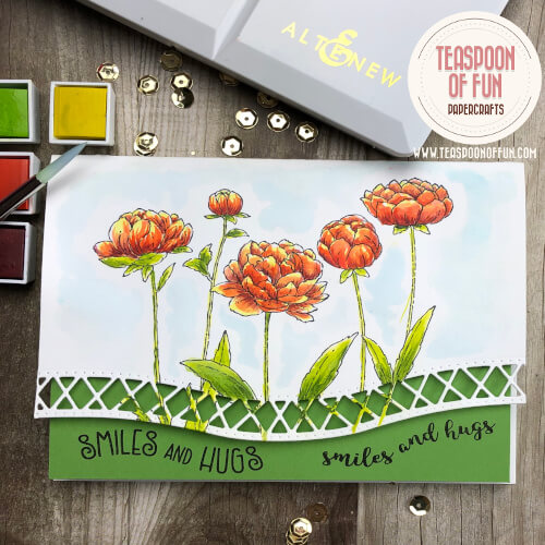 Edger Die paired with Friendship Blooms makes a gorgeous card.