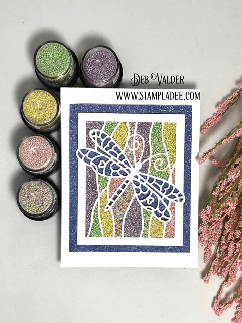Mosaic Dragonfly Frame filled with Prills
