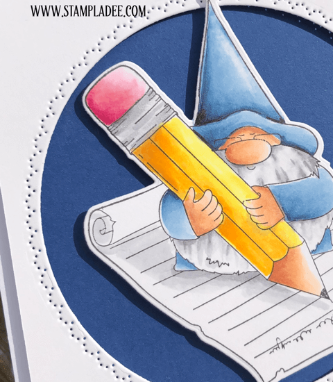 Dear Friend, I miss you Gnome with Pencil