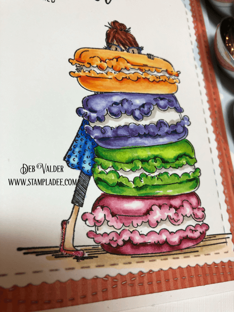 Stamping Bella's Macaron Bouquet is a sweet deal with Deb Valder
