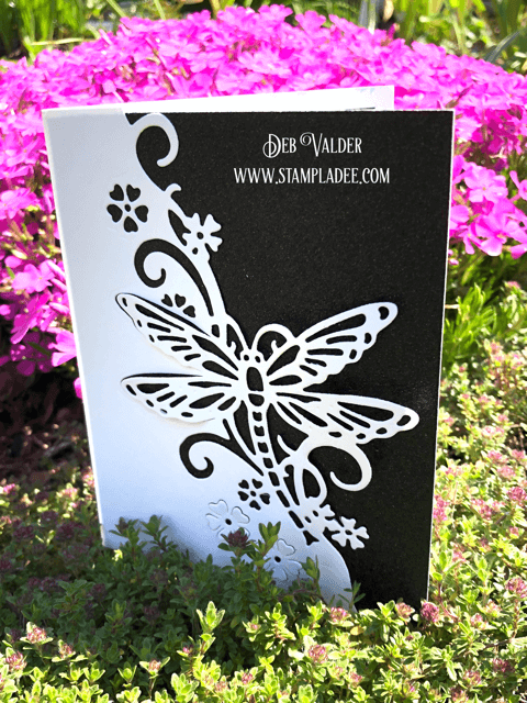 Dragonfly Edger paired with our sparkle paper and Magical Friendship.