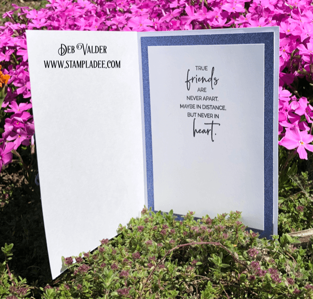 Dragonfly Edger paired with our Blue Violet Sparkle Paper and Magical Friendship.