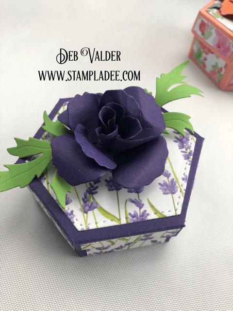 Create a super simple hexagon treat box with Deb Valder