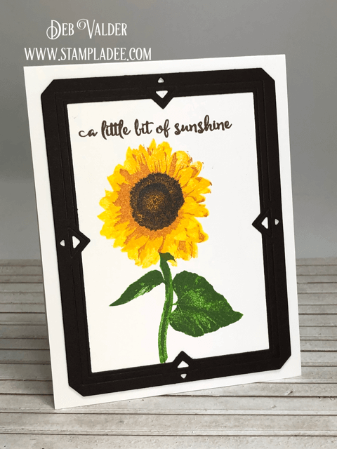Learn to multi-step stamp a sunflower with Teaspoon of Funduation Stamping with Teaspoon of Fun