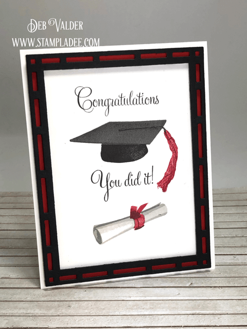 Graduation Stamping with Teaspoon of Fun