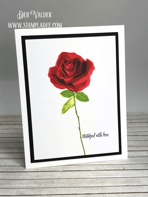 Learn to multi-step stamp Hearts and Roses with Teaspoon of Fun