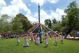Traditional May Pole celebrating May Day!