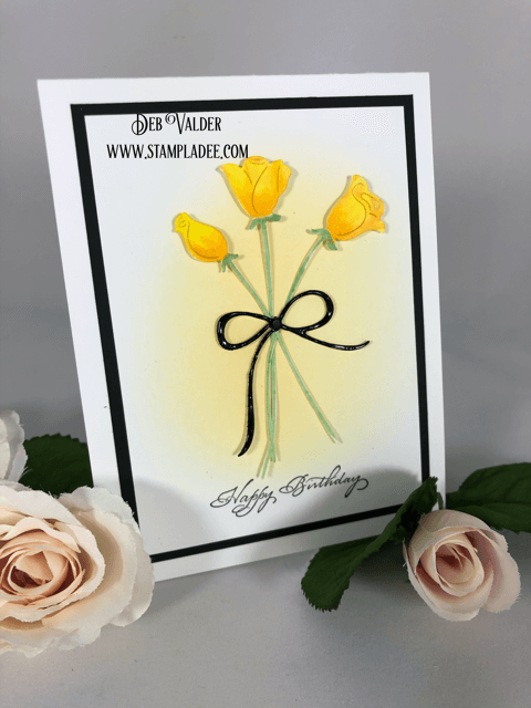 Yellow Rose Bouquet is a very fast card to create.