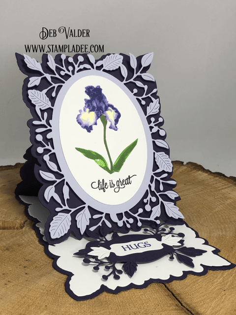 Adriana Pop Up Easel with Iris. All products can be found in our Teaspoon of Fun Shoppe.