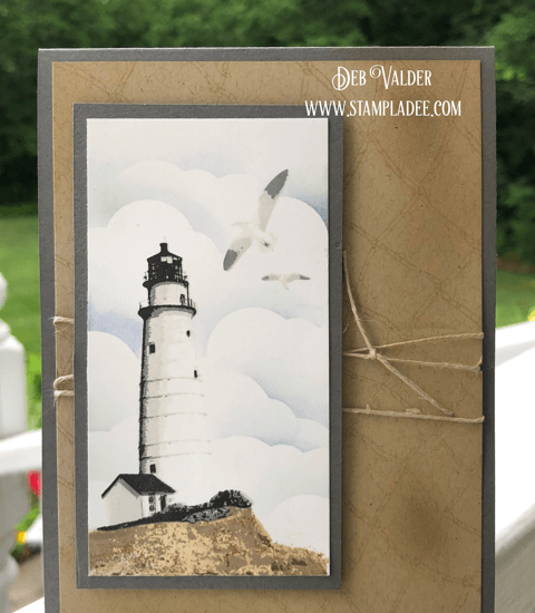 Seaside Lighthouse at High Tide is a gorgeous multi-level stamp set