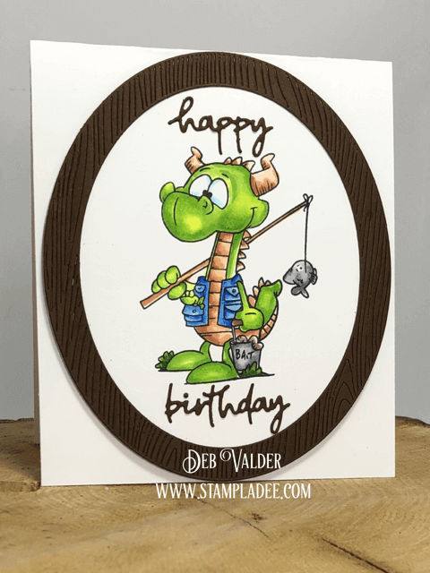 Fish fear me in this stamp set called Fishing Dragons, Happy Birthday!
